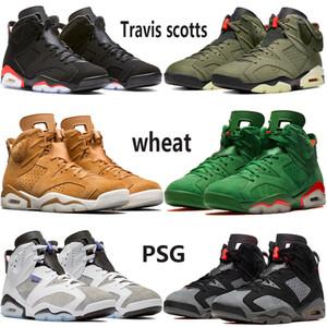2020 Travis'in scotts 6 6s Jumpman erkek basktball ayakkabıları siyah kızılötesi Paris gümüş Uçuş CNY oreo UNC stilist eğitmenler 40-47 EUR'dur mens Yansıtan