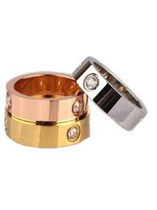 Nuovi 316L acciaio al titanio larghezza 5mm Anniversario Coppia Anelli Amanti Anelli di fidanzamento Anelli per donna e uomo Coppia Anelli Gioielli all'ingrosso