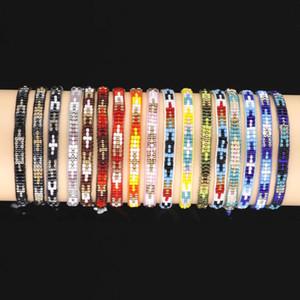 VSCO MENINA criativa pulseira trançada de arroz Beads pulseira artesanal New DIY VSCO pulseira Pônei Beads 19 cores Atacado