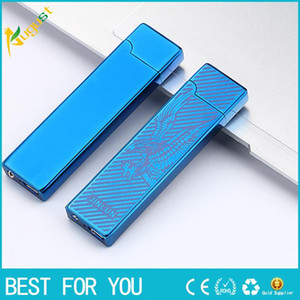 2016 JL 803 Creative USB charging ultra-thin windproof lighters Double-sided cigar lighter usb lighter electronic cigarette lighter