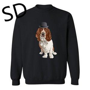 Dropshipping 3D Hoodies Men Basset Hound Dog Sweatshirt for Dog Lovers Hoodies camisetas hombre tracksuit men hooded mantle Top