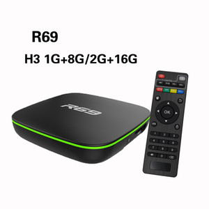 Android 7.1tv Box R69 Allwinner H3 Quad-Core 1GB / 8GB Built-in WiFi Smart Media Player SW