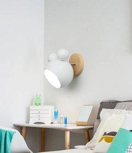 Modern metal macaron led duvar lambası ev dekor oturma odası yatak odası başucu duvar aplik fikstür wa218