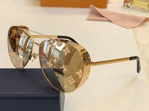 All'ingrosso Occhiali da Sole Per ovale unisex semplice UV 400 Trattamento lente a specchio Colore Lenti placcato montatura viene con l'imballaggio Z1054E
