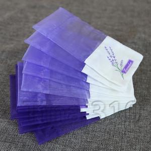 Púrpura gorras de bolsa de organza lavanda Bolsita Bolsa de bricolaje Dried partido de la boda bolsa de papel de regalo paquete de flores de vainilla bagT2I5436