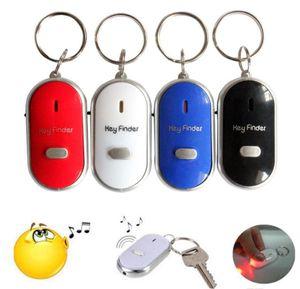 LED Whistle Key Finder проблесковый Звуковой сигнал дистанционного Затерянный Keyfinder Локатор брелоков Multicolor