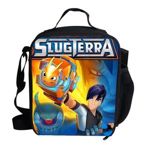 Hot Kids Cooler Lunch Bag Cartoon Slugterra Printed Girls Portable Thermal Picnic Bags for School Kids Boys Lunch Box Tote