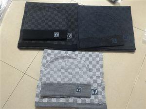 2020 Qualitäts-Luxus-Marke Hüte Schals Sets Männer Frauen Winter-Kaschmir-Schal Design Wool Tücher Caps Beanie Wraps Schals WWJJ