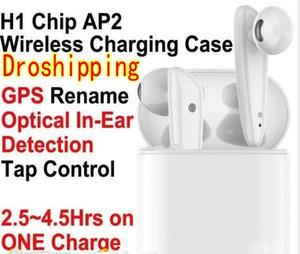 블루투스 5.0 헤드폰 이어폰, 이어폰 GPS 센서 바꾸기가 W1 헤드셋 팝업 충전 H1 칩 AP2 TWS 2 세대 무선 3.0 PK I9S I12
