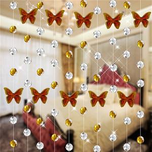 Ouneed frisado cortina 2017 hot Crystal Glass Bead cortina Sala Quarto Janela Decorações do casamento * 30 GIFT Gota