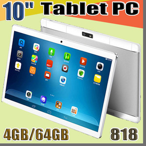 """818 10"""" DHL inch MTK6580 Octa Core 1.5Ghz Android 6.0 3G Phone Call tablet pc GPS bluetooth Wifi Dual Camera 4GB 64GB pad mid G-10PB"""