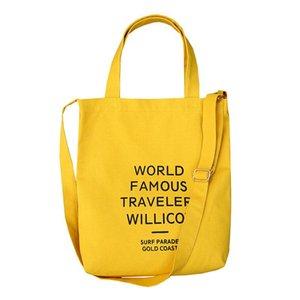 디자이너 - 높은 품질 캐주얼 여성 캔버스 핸드백 재사용 식료품 가방 인터넷 쇼핑몰 에코 쇼핑 접이식 토트 비치 학생 어깨 가방