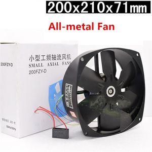 Metal Blade 200FZY2-D Fan 220V 65W 0.3A Yüksek Sıcaklık Bakır Motorlu Tüm metal Aksiyel Fan Soğutma
