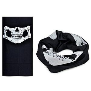 Hot Festive Halloween Máscara assustador do crânio Festival Máscaras esqueleto exterior da motocicleta bicicleta multi máscara máscaras Cachecol Meia cara RRA3104