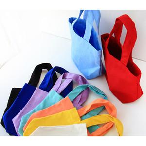 بسيط قماش الغداء مربع حقيبة الغداء المحمولة 11 الطازجة كاندي اللون المحمولة حماية البيئة حقيبة تسوق XD23065