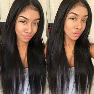 Menschliches Haar Halbkopf Perücken Falls 3/4 Perücke Gerade Jungfrau Remy Human Hair Nicht Spitzeperücken für Afroamerikaner 4 Farben