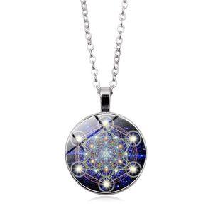 Инь Ян время Gem ожерелье Sacred время геометрия Gem ожерелье европейских и американских новое ожерелье ключицы цепи