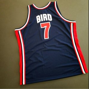 Custom Men Youth women Larry Bird Basketball Jersey Size S-5XL or custom any name or number jersey