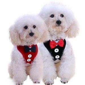 Köpekler Nefes Dog Çoklu Stil Elbise Bow Yelek Pet Giyim için Pet Kuşakları Tasmalar Göğüs Kemeri Yaka Traction Halat