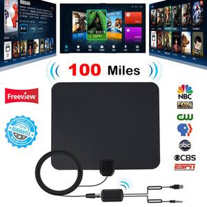 100 Miles HDTV cubierta TV Digital Radio Antena de televisión Fox Surf antena DVB-T DVB-T2 con amplificador de señal Booster