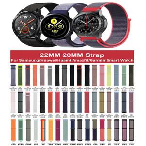 Naylon Saat Kayışı İçin Samsung Galaxy 42mm 46mm Dişli S3 Spor Aktif 2 22mm 20mm Watchband Naylon Spor Döngü Bandı