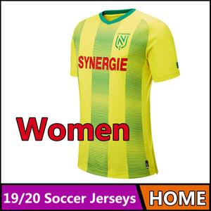 19-20 тайское качество Ligue 1 ФК Нант женские футболки Футболка 2019 2020 ФК Нант женские домашние футболки Бег Трикотажные изделия