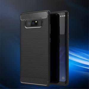 Fibra de carbono del caso de TPU de goma cubierta del teléfono para Samsung S10 S10e S9 S8 S7 S8 Nota Plus Plus 10 10 9 8