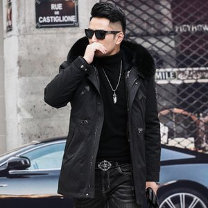 mens designer Pi overcome plush thickened warm coat rabbit hair liner luxury winter clothing fashion