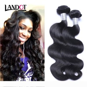 A Peruvian Malaysian Indian Cambodian Brazilian Virgin Hair Body Wave Wavy Cheap Human Hair Weave Bundles Natural Black Remy Hair Exten