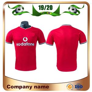 2000/2001 Retro Edição United branco Soccer Jersey 00/01 Manchester Início Red Camisa do futebol partida final Man utd UCL Futebol uniforme