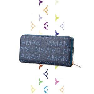 d esigner Сумки женские 2020 новые мужские и женские кошельки длинный многофункциональный кошелек на молнии модный кожаный бумажник big bill clip