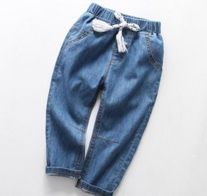 2020 best selling children's jeans autumn new style of children's Pants Boys' 12-year-old children's thin trousers autumn wear