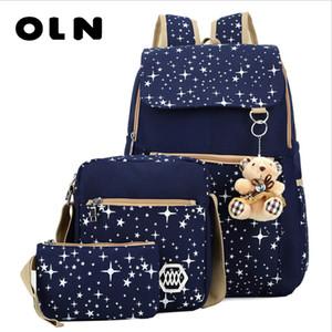 OLN Star Printing Children School Bags For Girls Teenagers Backpacks Kids Orthopedics Schoolbags Backpack infantil