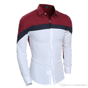 Long Sleeve Mens Casual Designer Shirts Turn Down Collar Fashion Homme Clothing Business Solid Color Apparel