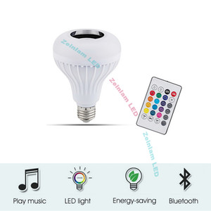 bombilla LED inteligente Bluetooth Light Bulb altavoz sincroniza el cambio de color del bulbo con la música, altavoz de audio inalámbrico de luz alto y claro