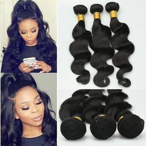 Fibra a temperatura elevata sintetica dei capelli dell'onda del corpo di 80g / pezzo 8-24 pollici per Body Wave Black Girl economico Capelli bundle lunghi Capelli mossi Weave