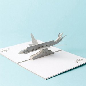 3D Pop Up Invitation Card Airplane Greeting Cards Christmas Birthday Valentine Invitation Thank You Cards Thanksgiving Gift Card