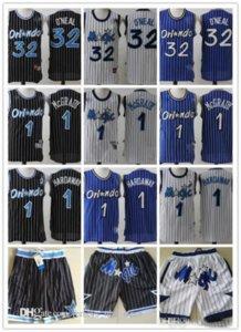 MensOrlandoMagic32 Shaquille O Neal 1 PennyHardaway 1 TracyMcGrady Basketball Shorts Basketball Jerseys 05