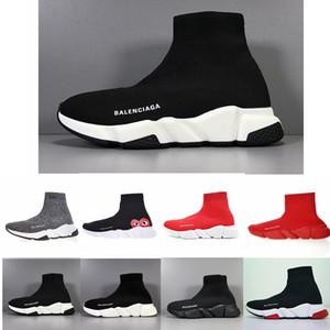 Balenciaga Mujeres baratas para hombre del calcetín velocidad zapatillas de deporte del instructor de tejer Slip-en alta calidad recorrer ocasional de la comodidad del zapato Todo