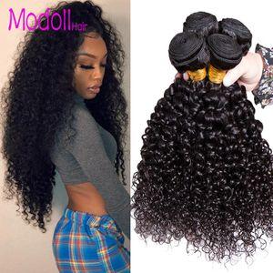Moğol Afro Kinky Kıvırcık Saç Paketler% 100 İnsan Saç Paketler 4 veya 3 Paketler Deal Kıvırcık Remy Saç Dokuma