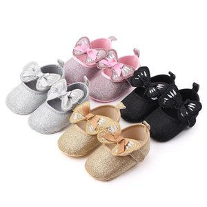 2020 2020 Baby Girl Shoes Newborn Infant First Walker Bowknot Design Leather Soft Soled Princess Toddler Baby Crib Shoesdropshipper0Jxx#