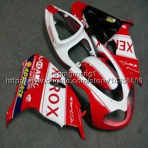 Botls + Cadeaux moto rouge blanc Carénage Suzuki TL1000R 1998 2003 ABS moteur kit Carénage