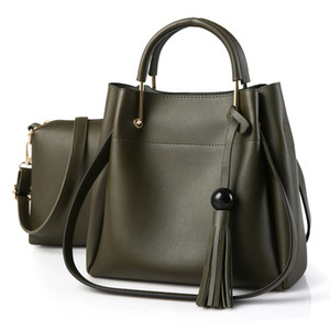 Mulher designer saco sacos de moda mulheres 2 de PCS / Set Composite sacos 2020 de couro feminina bolsa de ombro Messenger Bag Exército Verde
