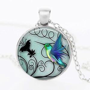 10 Colibrí Colgante Collar de piedras preciosas de tiempo Colibrí Aretes de piedras preciosas Colibrí Pulsera pequeño Pájaro Abeja paz paloma conjunto Joyería