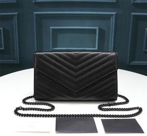 Hot Moda Luxo Designer bolsas saco de ombro cadeia saco bolsa V Flap Caviar alta qualidade couro genuíno acolchoado Tote saco de embreagem bolsa