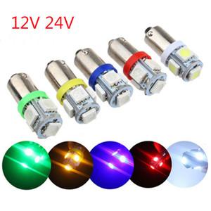 100pcs BA9S 5050 5SMD led H6W T11 T4W 5smd Car Vehicle Lamp Auto Bulb turn light white pink ice blue red 12V 24V