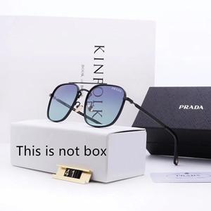Gafas de sol de diseño Gafas de sol de lujo Diseñador de vidrio para hombre Gafas para hombre UV400 con caja de marca de alta calidad P41 5Color 2019 Nuevo Caliente