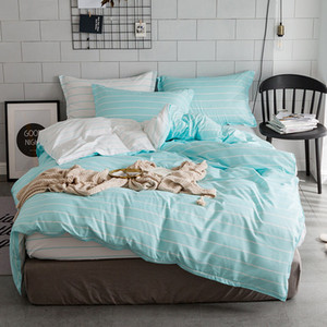 Bedding Set 2 3PCS AB Side Bed Set Linens Soft Duvet Cover with Pillowcases King Queen Full Size Home Bedding Bedclothes