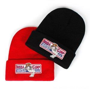 Forrest Cappelli cappelli, Sciarpe Guanti Gump cappello invernale Donna Uomo Bubba Gump autunno caldo e l'inverno di cotone lavorato a maglia rosso Berretti Hiphop Cod