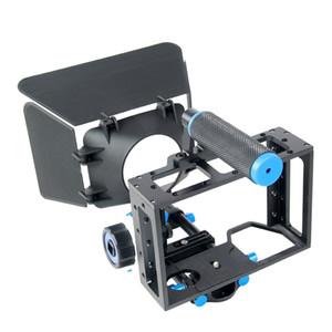 Ручной бесплатная доставка снаряжения DSLR камеры клетки набор матовый коробка следовать фокус для канона 5D2 5D3 60D на 70D был 5Д 6Д 7Д кино фотостудия аксессуары